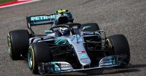 Bottas en el Mercedes de 2018