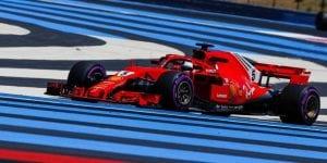 Sebastian Vettel en el GP de FRancia 2018