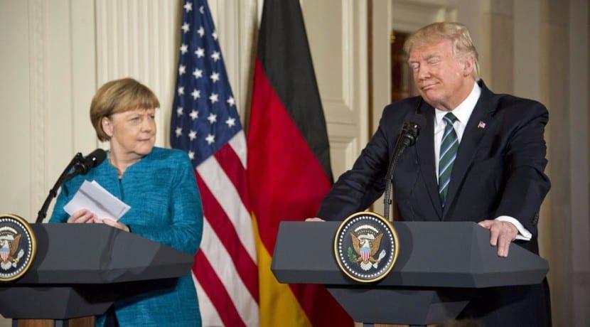 Angela Merkel VS Donald Trump sector del automóvil