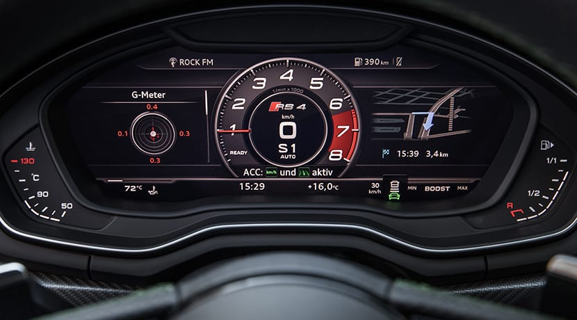 Audi RS 4 Avant Virtual Cockpit