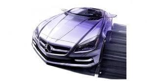 Boceto del Mercedes SLC de 2011