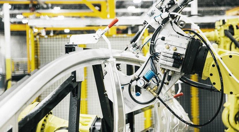 El Faraday Future FF 91 fabricándose en la línea de producción
