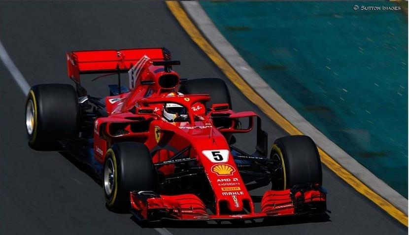 Vettel en su Ferrari