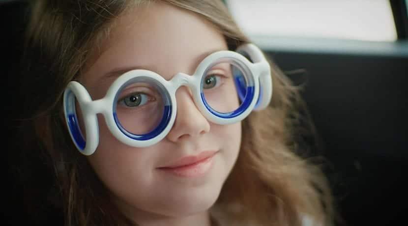 Gafas para evitar mareos
