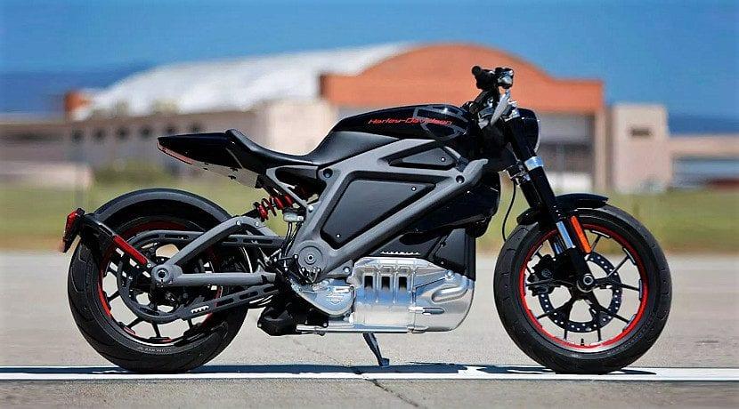 Motos eléctricas Harley Davidson (recreación)