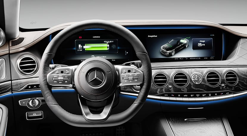 Diseño interior del Mercedes Clase S