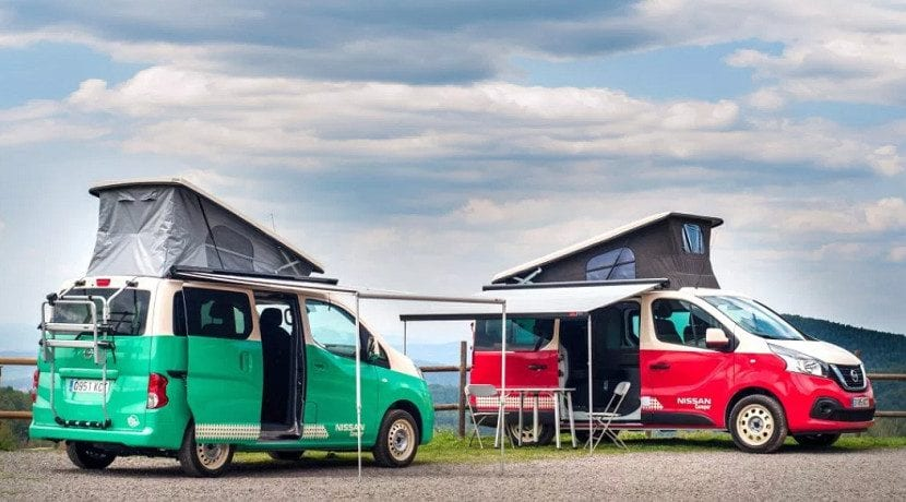 Autocaravanas eléctricas basadas en las Nissan e-NV200 y e-NV300