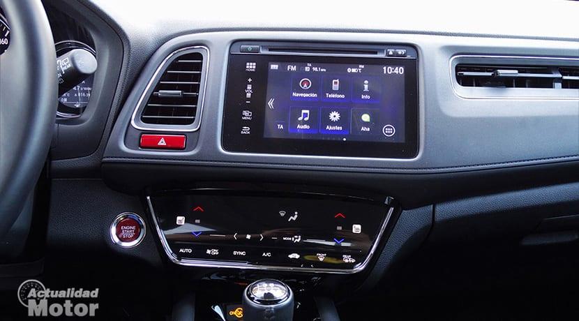 Prueba Honda HR-V pantallas salpicadero