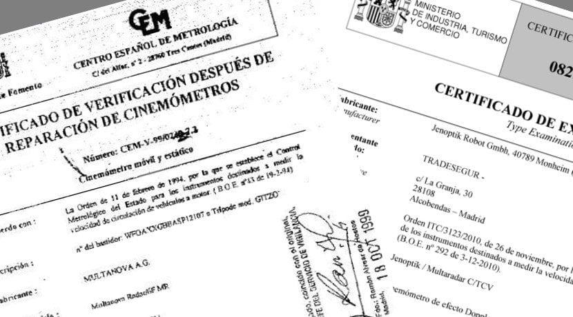 Recurrir una multa exigiendo pruebas como los certificados del cinemómetro o radar