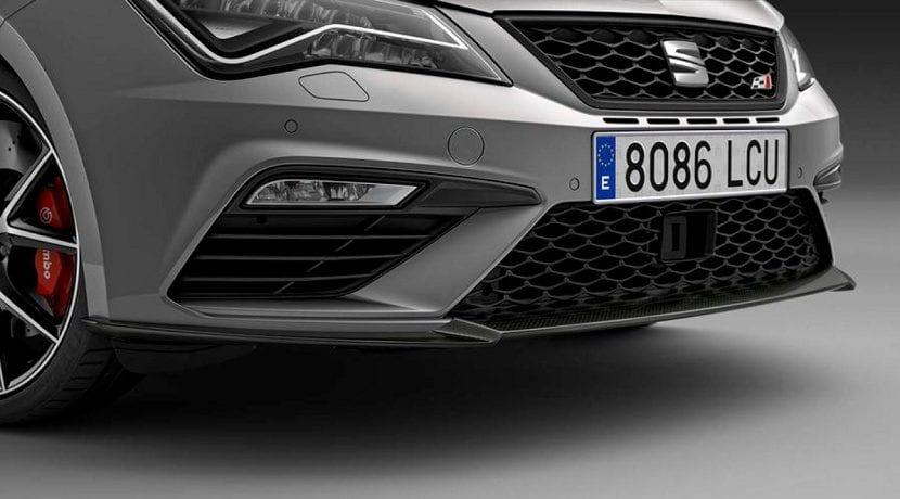 Spoiler delantero del Seat León ST Cupra Carbon Edition