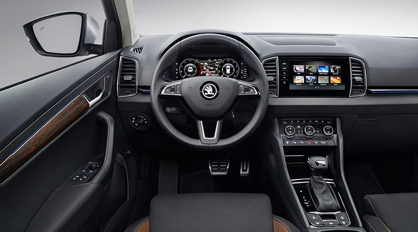 Skoda Karoq Scout interior y Digital Cockpit