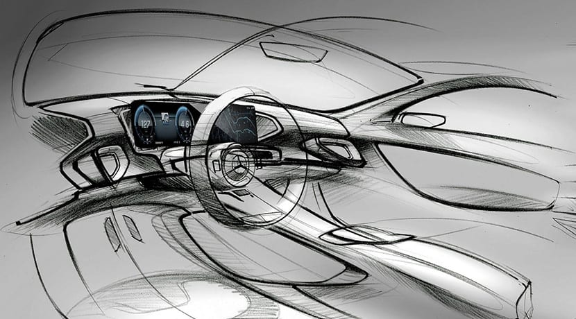 Teaser del interior del Mercedes GLE