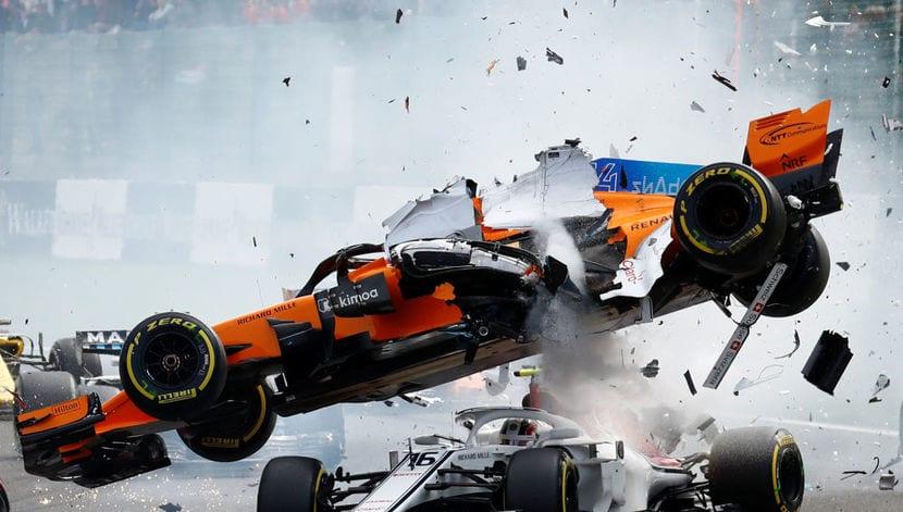 Fernando Alonso accidente Bélgica 2018