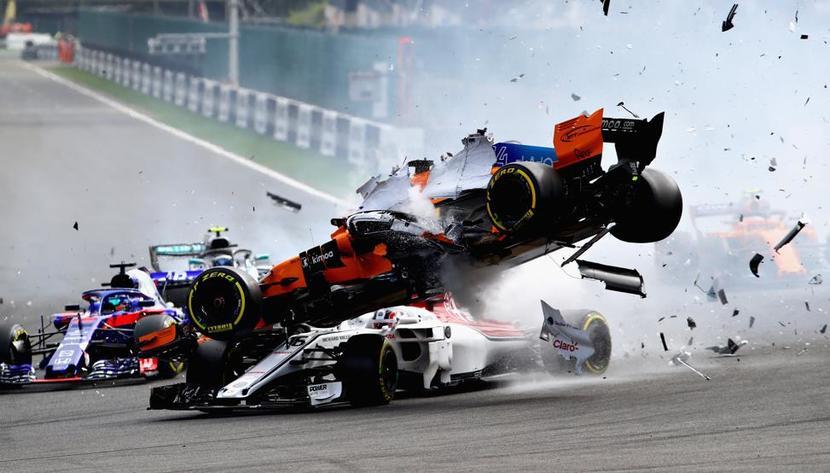 Accidente de Fernando Alonso en Bélgica 2018