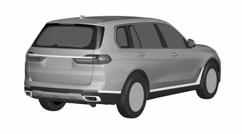 Trasera del BMW X7 Imágenes de la patente