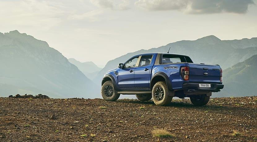 Trasera del Ford Ranger Raptor