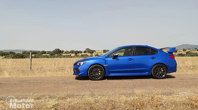 Prueba Subaru WRX STi lateral