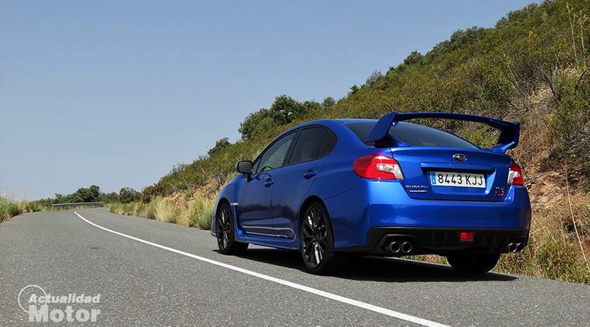 Prueba Subaru WRX STi trasera