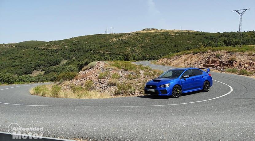 Prueba Subaru WRX STi horquilla