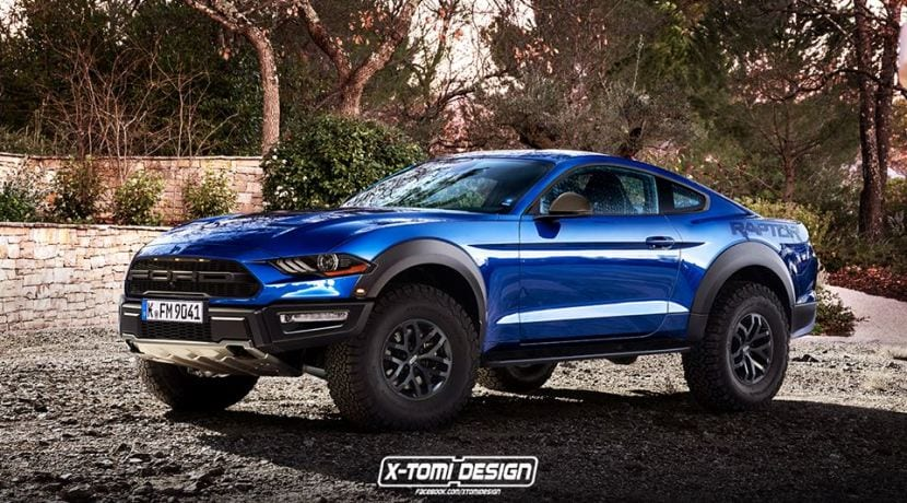 Ford Mustang Raptor render X-Tomi Design