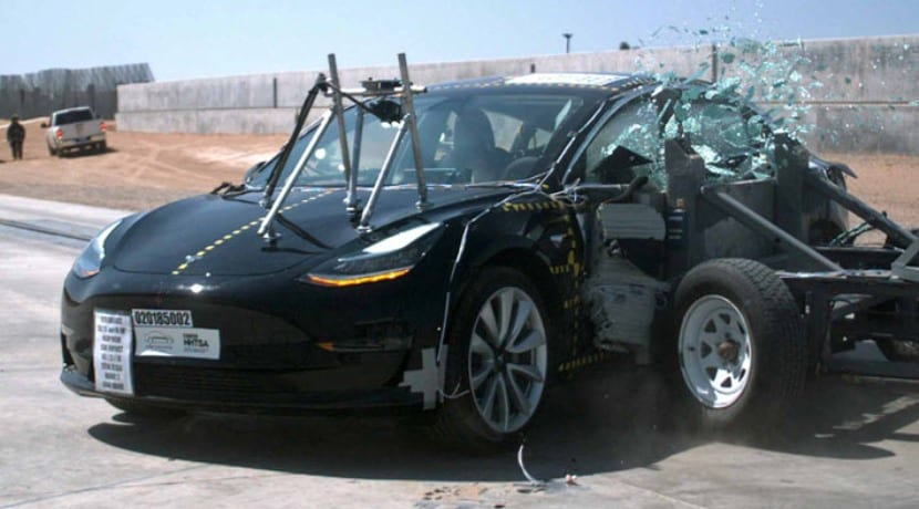 Tesla Model 3 crash test NHTSA