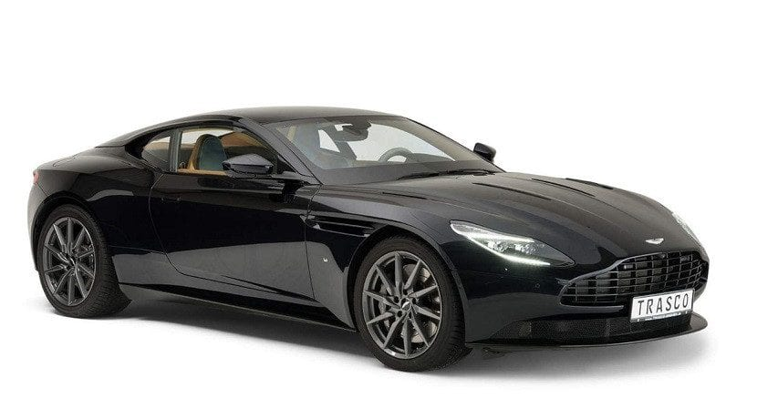 Frontal del Aston Martin DB11 blindado