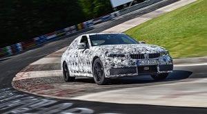 Teaser del BMW Serie 3 camuflado en Nürburgring