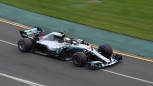 Lewis Hamilton en el Mercedes 2018