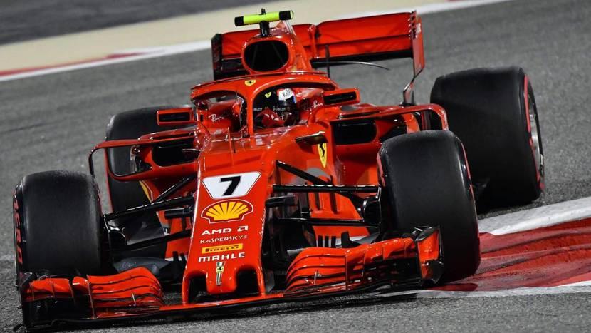 Kimi en el Ferrari de 2018