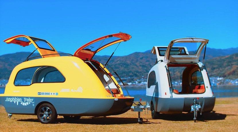 Minibig caravana anfibia o barca-remolque