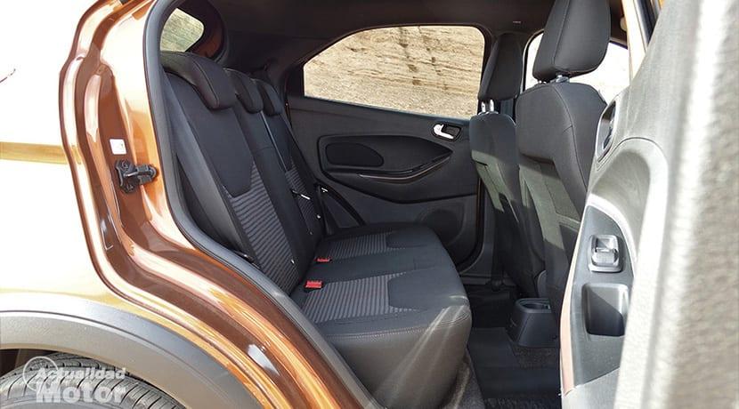 Prueba Ford Ka+ Active plazas traseras
