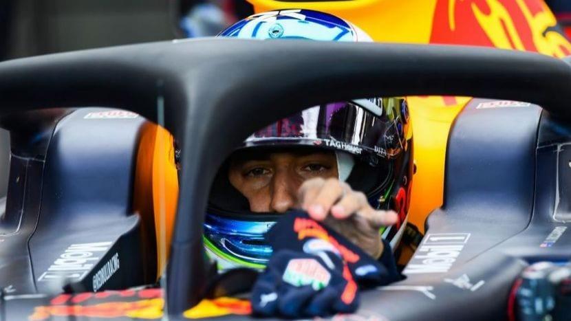 Ricciardo en el cockpit del Red Bull