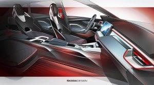 Teaser interior Skoda Vision RS