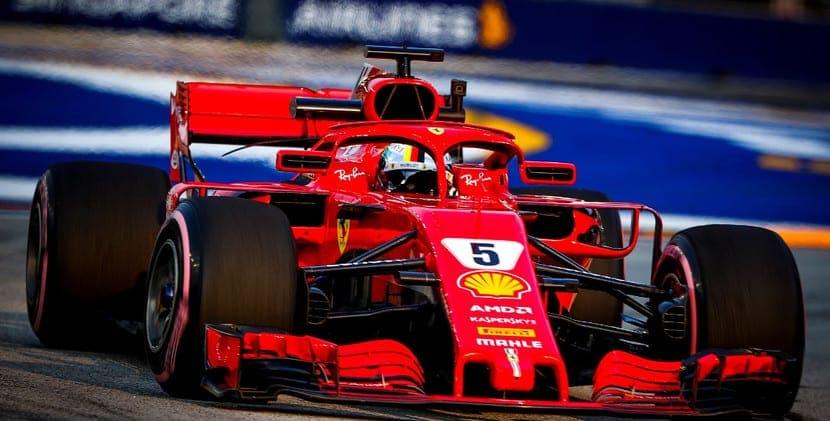 Vettel en Singapur 2018