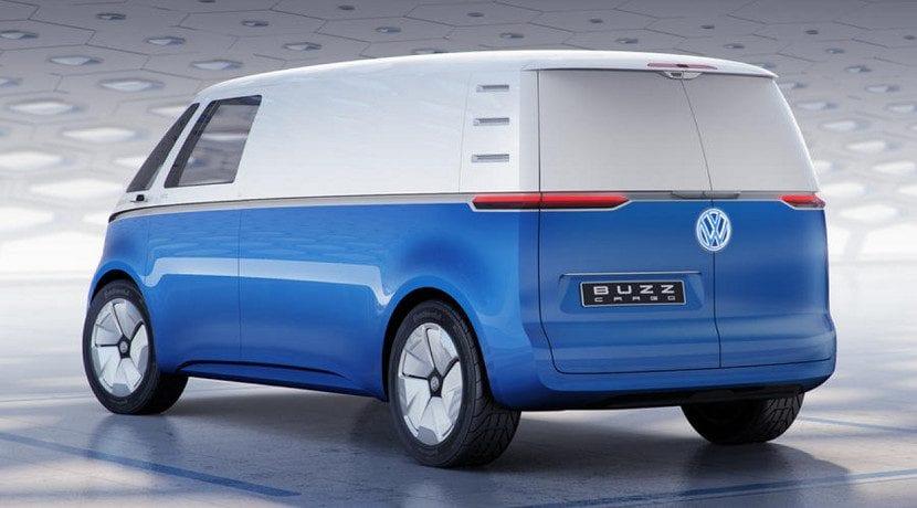Trasera de la furgoneta Volkswagen ID Buzz Cargo