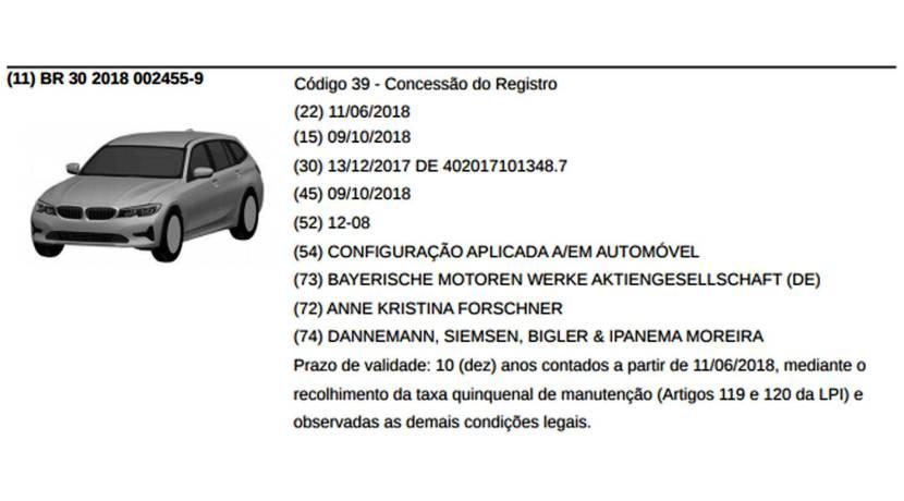 BMW Serie 3 Touring 2019 patente