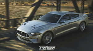 Ford Mustang GT Sedan render X-Tomi Design