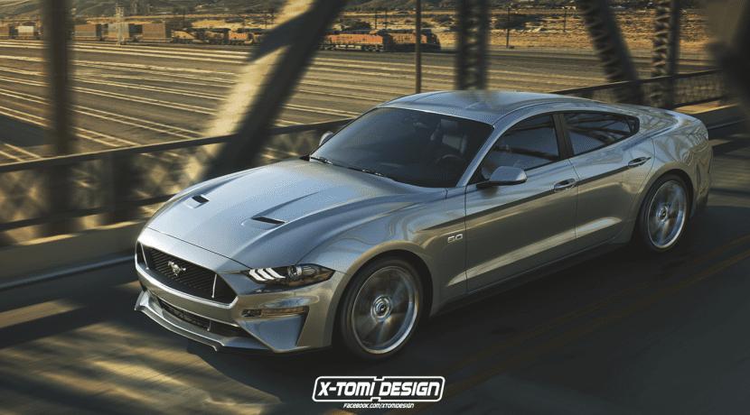 Ford Mustang GT Sedan render X-Tomi Design