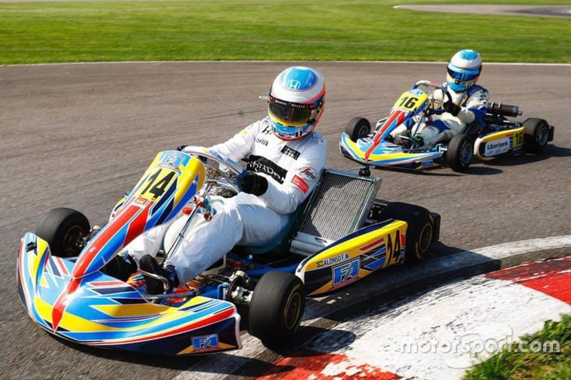 Alonso en Karting