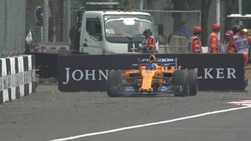 Fernando Alonso abandona en el GP de México 2018