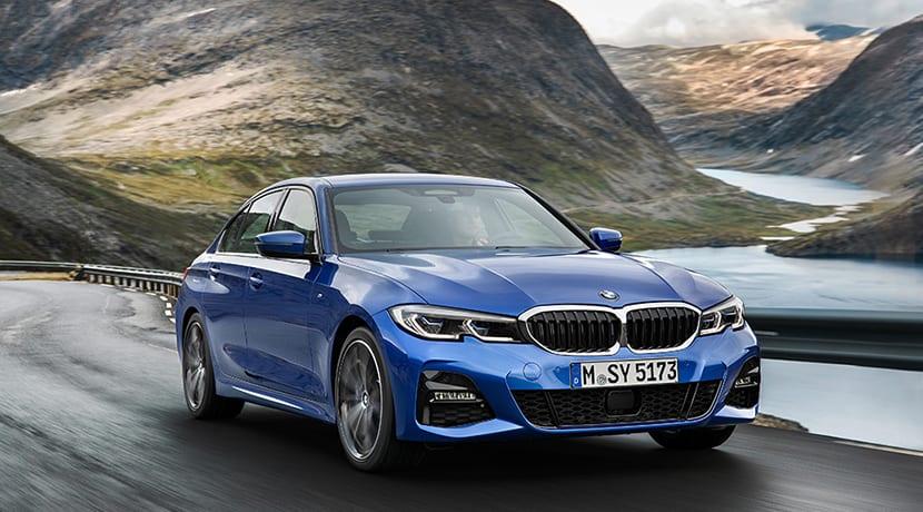 BMW Serie 3 perfil delantero