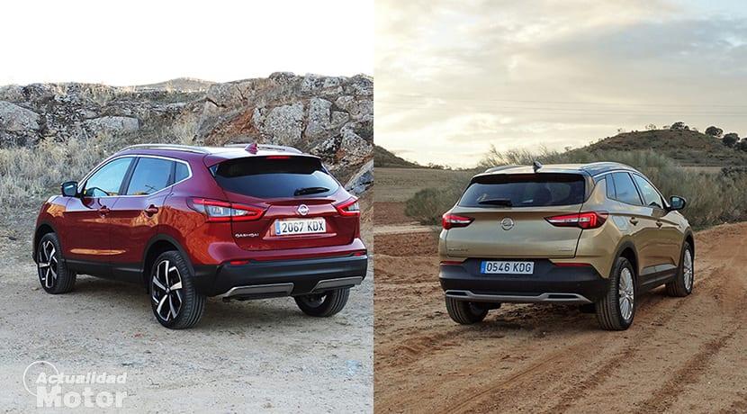 Comparativa Opel Grandland X Vs Nissan Qashqai