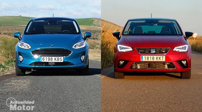 Comparativa Ford Fiesta Vs Seat Ibiza frontal