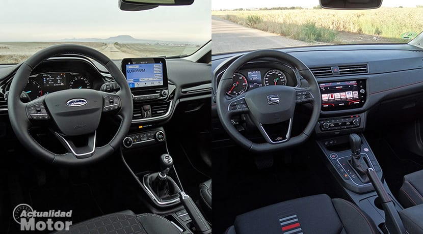 Comparativa Ford Fiesta Vs Seat Ibiza interiores