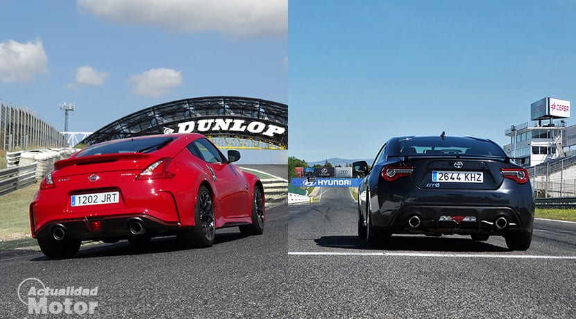 Comparativa deportivos Nissan 370z Vs Toyota GT86 diseño traseras