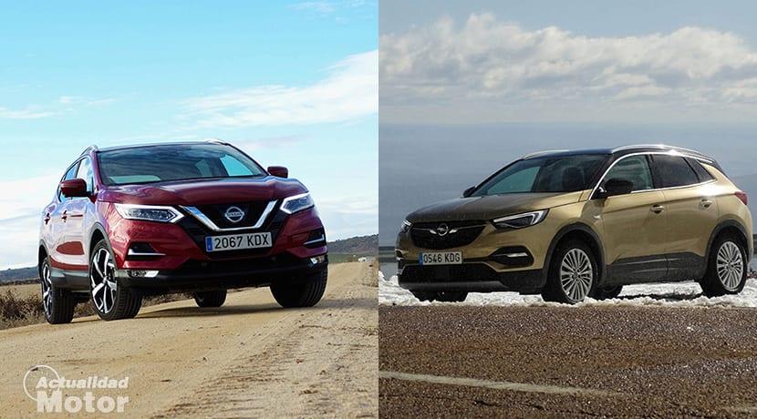 Comparativa SUV compactos Nissan Qashqai Vs Opel Grandland X