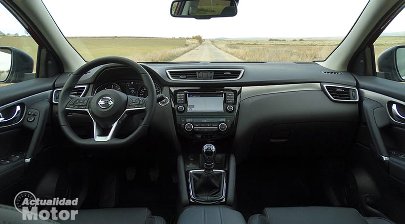 Diseño interior del Nissan Qashqai