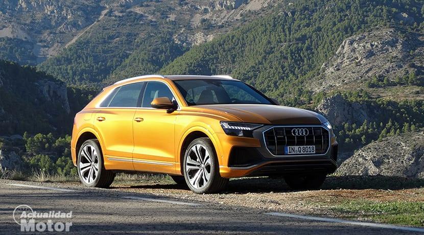 Prueba Audi Q8 perfil delantero