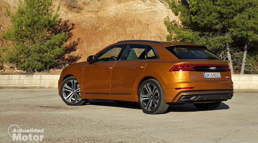 Prueba Audi Q8 parte trasera