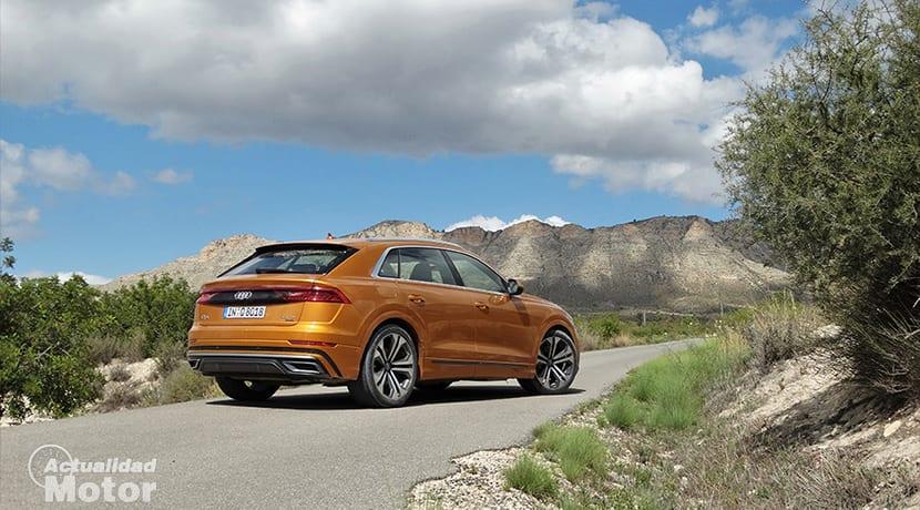 Prueba Audi Q8 perfil trasero